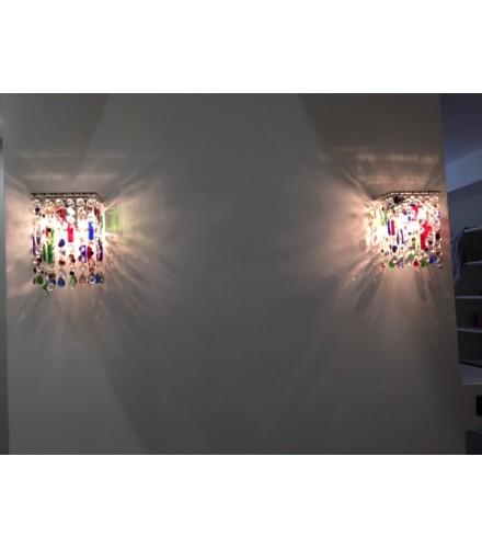 Appliques cascata cristalli swarovski multicolor